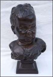 Sulky Child Boudeur J B Carpeaux Bronze Signed 19th C