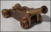 Navy Cannon Brass Miniature Desk French Empire Style