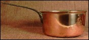 French Tined Copper Pan Astragale Edge & Iron Handle 19 th Century