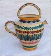 Henriot Quimper Geometric Decor Jar Jug  Faience  1930