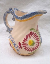 HB HENRIOT QUIMPER Small Pitcher Dahlia Decor