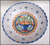 NEVERS Faience Salad Fruit Bowl Flower Basket 19th C