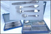 Silverplate 49 Pcs Flatware 12 Place Settings Louis XV Style Guillaumot