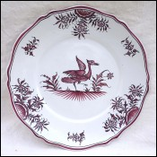 Faience Scalloped Plate Wonderful Bird E TESSIER MALICORNE