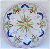 Faience Decorative Plate Malicorne no Quimper
