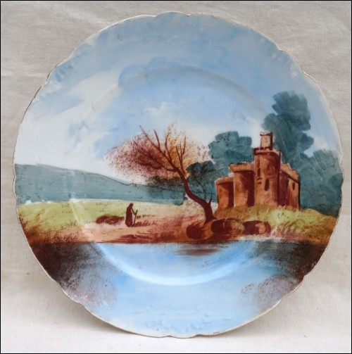 Limoges Porcelain Decorative Plate Castel River J Pouyat 1900