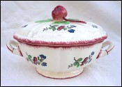Small Tureen Vegetable Serving Dish Lorraine Model Faience Gien