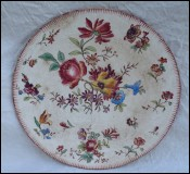 Faience Transferware Flowered Dish Longchamp 1910