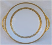 TH. HAVILAND LIMOGES Gold Porcelain Round Dish 1894 -1931