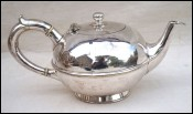 CHRISTOFLE French Modern Style  Silverplate Tea Pot Paris 1900