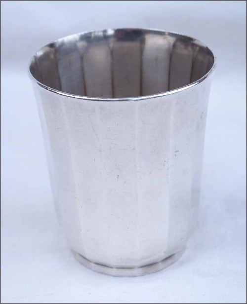 CHRISTOFLE Art Deco Goblet Tumbler Cup Silverplate