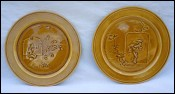 Aesthetic Japan Decor Pair Plate Majolica H Boulenger Choisy 1880