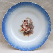 Limoges Porcelain 3 Cherub Putti Decorative Plate Transferware 1910