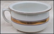 Art Deco Chamber Pot Gold Ribbon St Amand Faience 1930