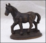 Brass Shetland Pony Figure Paperweight Signed