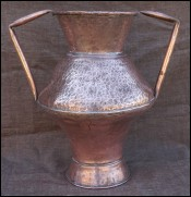 Hammered Dovetailed Copper Large Urn Andalusia 19th C