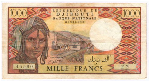 DJIBOUTI Paper Money 1000 Francs 1979