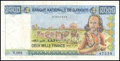 Billet 2000 Francs République de Djibouti Type 1995