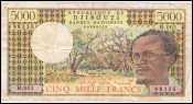 Billet 5000 Francs République Djibouti Type 1995