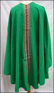Roman Green Chasuble with Braid