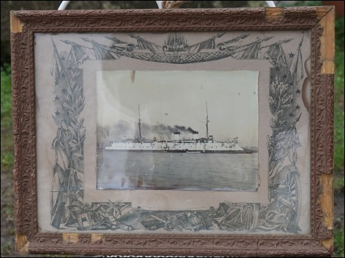 Pacific Navy Catinat Protected Cruiser Framed Photo