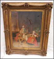 Bernard Louis Borione Entretainment Tea Eminence Catholic Pastel/Canvas
