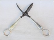 Pair Grape Scissors Steel Silvered Metal late 19th c