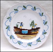 Faience Decorative Plate Return of Hunting G Asch Ste Radegonde