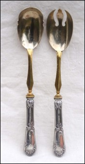 Sterling Silver Salad Serving Set C Barrier Paris 1910