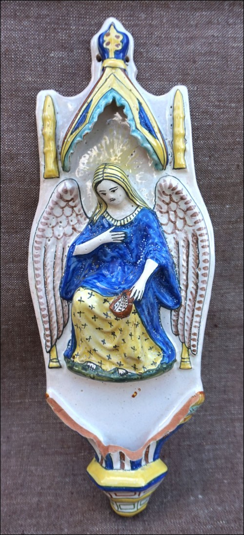 HB Quimper Angel Chapel Canopy Holy Water Font