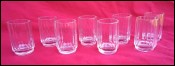 Russian 8 Vodka Cordial Glass Set Cut Crystal Vintage