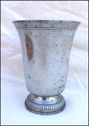 French Art Deco Urn Vase Beer Stein Pewter Leboeuf 1930