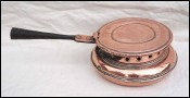 Bed Warmer Copper Wrought Iron Handle Ø 9 1/4