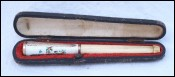 German Enameled Guilloche Boxed Cigarette Holder 1910 Need Repair