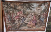 Romantic Scene Musician French Wall Hanging Tapestry Beauvais Style 37