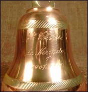 Copper Hand Bell for Celebration of Ste Therese