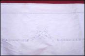 Butterfly Embroidered Bed Sheet Ladder Work White Metis 102 1/4 x 78 3/4