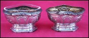 Sterling Silver Open Salt Cellar Louis XVI Style A Deflon