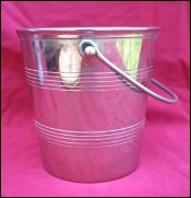 French Ice Bucket Cooler Chromium Plated