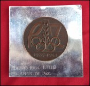 PAZ Olympic Games Madrid 25 Years Peace Sport Medal Spain Bronze Sterling