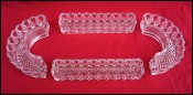 BACCARAT Pressed Crystal Tabletop Centerpiece Vases 4 Pcs Early 20th C