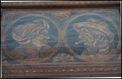QUIMPER Couple Bretons Carved Wood Tray Signed Piriou