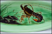 Crayfish Decorative Dish Platter French Hand Painted Ceramic Proceram