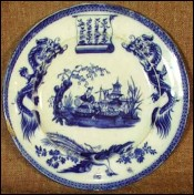 Chinese Decor Decorative Plate Vieillard Bordeaux 1850