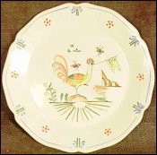 French Revolution Plate Majolica Rooster