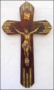 Crucifix gilt metal