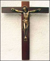 Crucifix art deco