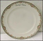 Assiette dessert Haviland Limoges Ermitage Elysees Paris 1926