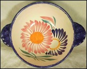 H B Quimper Flowers Bowl