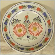 Traditional Flower Pattern Large Bowl HB Quimper